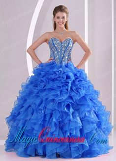 fcc44d70423 Buy exquisite sweetheart full length 2014 summer quinceanera gowns in blue  from sweet 16 dresses collection