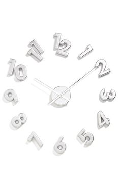 WORLD FRIENDLY WORLD 'Numbers' DIY Wall Clock available at #Nordstrom