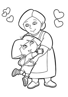 Dora Diego Coloring Pages - Coloring Home | 333x235