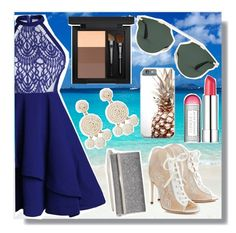 """""""Sea and Beuaty"""" by emmy-124fashions ❤ liked on Polyvore featuring Jimmy Choo, Clinique, Humble Chic and MAC Cosmetics"""