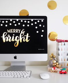 Free holiday themed desktop wallpaper by Clementine Creative