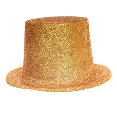 3e7fd8e25c43b7 Gold glitter top hat - change from a fairy on top of the tree