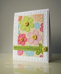 Love this simple card with buttons!