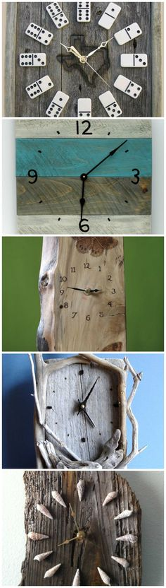 DIY Timber Clocks You're almost guaranteed to end up with a unique wooden clock when you make your own! Which one do you like the most?