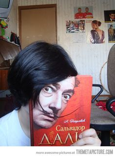 Salvador Dali's face… Had to look twice