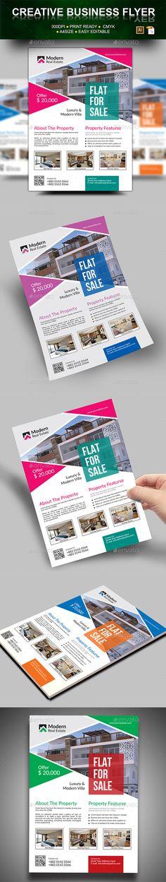#Real #Estate #Flyer - Flyers Print Templates Download here: https://graphicriver.net/item/real-estate-flyer/18246549?ref=alena994