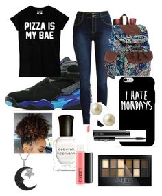"""School Day"" by nj-foundation ❤ liked on Polyvore featuring Jordan Brand, Sakroots, Carolee, Deborah Lippmann, Maybelline, MAC Cosmetics, Jewel Exclusive, women's clothing, women and female"