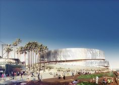 Architects Snøhetta and AECOM reveal designs for NBA basketball team on the waterfront in San Francisco.