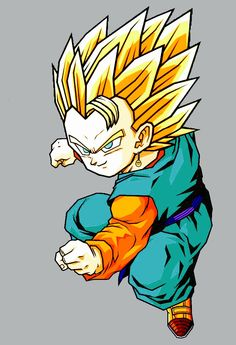 "The potara fusion of Goten and Trunks. What I like to call, ""Trunkten"". I Think this would be a cool what-if, considering we've seen their fathers fusions (via the dance and the earrings). I think it would be cool to see the boys fuse by the earrings as well, just to see if there was much of a difference. #SonGokuKakarot"