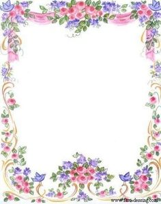 Flower border stationery paper designs perfect papers flower elegant and beautiful floral design mightylinksfo