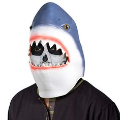 Ylovetoys Halloween Mask Shark Costume Head Mask Novelty Halloween Costume Party Masks Funny Latex Animal Head Mask -- Food costumes are so funny! You can entertain anyone with this halloween costume.