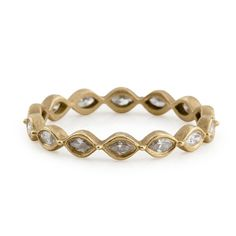 Jamie Wolf yellow gold linked marquis band with diamonds
