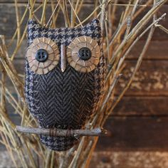 Primitive Owl Folk Art Ornie EPattern via Etsy