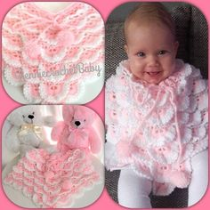 Crochet Baby Poncho, Baby Knitting, Newborn Baby Gifts, Baby Girl Gifts, Baby Accessoires, Handmade Baby Clothes, Girl Beanie, Baby Layette, Baby Presents