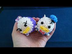かぎ編みで編む(only hook) ツムツム(TSUM TSUM )ドナルド&デイジー(Donald&Daisy)レインボールーム(Rainbow loom) - YouTube