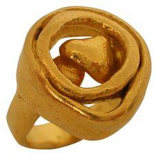 22k Gold Ring c 1960, Signed