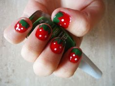 Who doesn't like chocolate covered strawberries, well guess what you can deal with them un-choclifyed too Get Nails, How To Do Nails, Hair And Nails, Nail Manicure, Nail Polish, Manicure Ideas, Manicures, Super Cute Nails, Pretty Nails