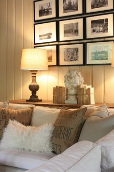 love the sofa table behind the couch - I'M DOING THIS