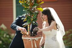 Tree Planting at Wedding :) So awesome!!!