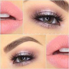 Gorgeous Soft Pink and Lavender Look With Makeup Geek Eye Shadows and Noyah Cosmetics Lipstick!-See this and similar makeup - Gorgeous Soft Pink and Lavender Look With Makeup Geek Eye Shadows and Noyah Cosmetics Lipstick! Pink Makeup, Cute Makeup, Gorgeous Makeup, Makeup Looks, Hair Makeup, Cheap Makeup, Amazing Makeup, Glitter Makeup, 50s Makeup