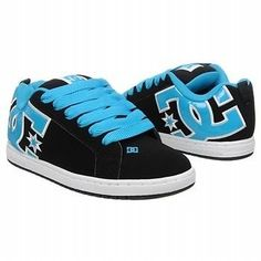 DC Shoes Men's Court Graffik SE Stencil Skate Shoes Black Blue Black All Sz NIB