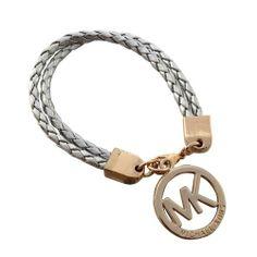 Charming Michael Kors Braided Logo Silver Bracelets Make You To BeCrazy