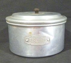 US $18.15 - Vintage Waratah Aluminum Biscuit Tin.