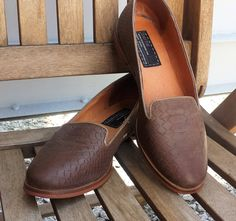 Ladies leather loafer shoes, Vintage Bertie London brown leather, Brown Taupe leather flat ladies shoes, size UK 6, US 8.5 EU 39 by LuckSy on Etsy