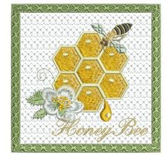 Beautiful coaster to make inside your hoop filled with the goodness of nature and honey bees! What a special design for you to stitch. - Design fits the hoop size or larger. Bee Embroidery, Machine Embroidery Projects, Embroidery Patterns, Bee Crafts, Paper Crafts, Coasters, Kids Rugs, Honey Bees, 4x4
