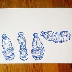Water bottle art, water bottle drawing, art sketchbook, a level sketchbook, water Water Bottle Drawing, Water Bottle Art, Drawing Sketches, Cool Drawings, Pencil Drawings, Drawing Art, Drawing Ideas, Skeleton Drawings, Object Drawing