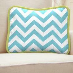Aqua Dandelion Decorative Pillow