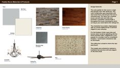 Family Room Design Board - Page 1 of 2. Florida