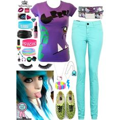 """""""Scene Queen"""" by scarletbiersack on Polyvore Emo Culture, Scene Kids, Punk Goth, Scene Style, My Style, Scene Hair, Dress Me Up, Casual Outfits, 2000s"""