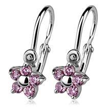 Dětské náušnice stříbrné - kytičky, růžové zirkony Belly Button Rings, Jewelry, Jewlery, Jewerly, Schmuck, Jewels, Belly Rings, Jewelery, Fine Jewelry