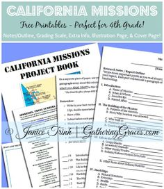 California Missions Project Book (Plus Free Printables!)