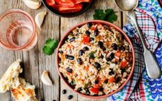 Enjoy our collection of online recipes from kitchens like yours. Browse breakfast recipes, lunch recipes, dinner recipes, dessert recipes and more. Mexican Black Beans, Black Beans And Rice, Chilli Cheese Fries, Tomato Rice, Mexican Food Recipes, Recipes Dinner, Lunch Recipes, Breakfast Recipes, Dessert Recipes