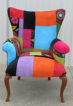 Suzani Patchwork Chair by LivingintheWOW on Etsy, $749.00