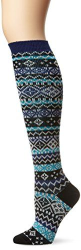 K. Bell Socks Women's Jacquard Fair Isle Knee High Sock Merino Wool Blend, Black, Sock Size 9 -11 K. Bell Socks http://www.amazon.com/dp/B00JGI184Y/ref=cm_sw_r_pi_dp_lEmCub00RVCVK