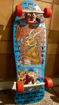 I hate to get rid of the skateboard because I know I'm never going to get another Red Ripper in such condition again. Here is a original 1988 Steve Caballero dragon and bats in a beautiful blue dip. Tony Hawk Skateboard, Skateboard Deck Art, Skateboard Wheels, Skate Wheels, Skateboard Design, Old School Skateboards, Vintage Skateboards, Powell Peralta Decks, Longboard Design