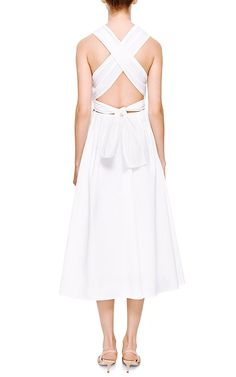Sailor White Cotton Midi Dress by Rosie Assoulin - Moda Operandi