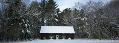 The A. Livingston Kelley Cabin in winter snow at Camp #Yawgoog.  A 2012 image by David R. Brierley.  Facebook cover photo.