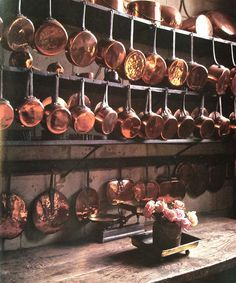 copper pots and pans - Google Search