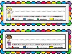 Freebie – Name Plates Editable Student Name Plates Desk Name Plates Classroom