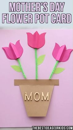 Mother's Day Tulip Card 🌷🌷🌷 Mother's Day Tulip Card 🌷🌷🌷- such a cute and easy Mother's day craft for kids! Make this paper tulip Mother's day card with free printable template. PAPER TULIP CARD 🌷How to draw a Pop Up Daffodil Card Easy Mother's Day Crafts, Mothers Day Crafts For Kids, Fathers Day Crafts, Paper Crafts For Kids, Mothers Day Cards, Preschool Crafts, Good Mothers Day Gifts, Happy Mothers, Cute Mothers Day Ideas