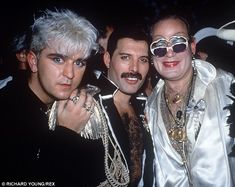 Life of the party: Steve with the late Queen frontman Freddie Mercury at the latter's birthday party in 1985