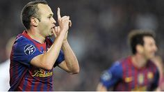Andres Iniesta made it look easy when scoring Barcelona's third goal against Milan.