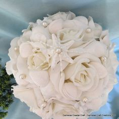 Hey, I found this really awesome Etsy listing at http://www.etsy.com/listing/152505001/beach-bridal-bouquet-with-white-roses