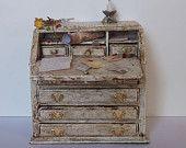 Dollhouse miniature vintage desk 1/12 scale