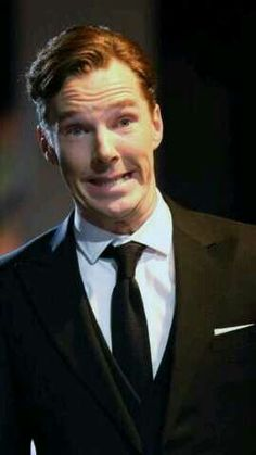 Benedict Cumberbatch | And this is why we love him :) serious, beautiful, and goofy all in one.
