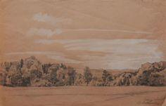 Buttersack, Bernhard (1858-1925)  Icking im Isartal 1915 #kunstkauf #kunstverkauf #zeichnung #drawing #worksonpaper #art #kunst